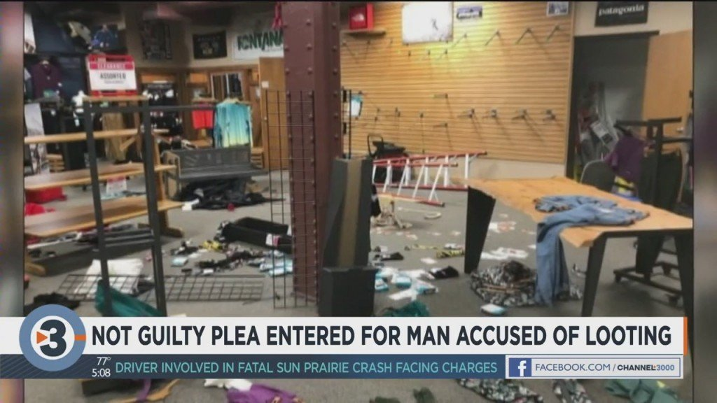 Not Guilty Plea Entered For Man Accused Of Looting State Street Store