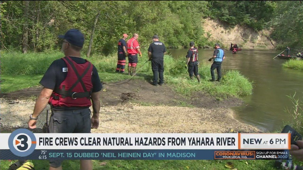 Fire Crews Clear Natural Hazards From Yahara River