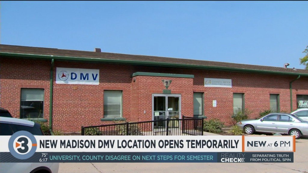 New Madison Dmv Location Opens Temporarily
