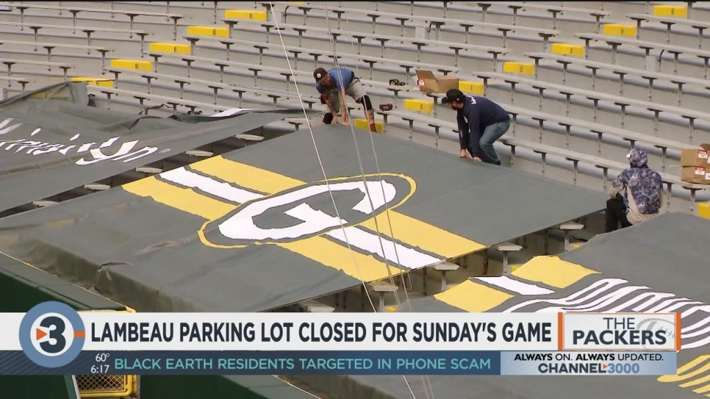 Lambeau Parking Lot Closed For Sunday's Game