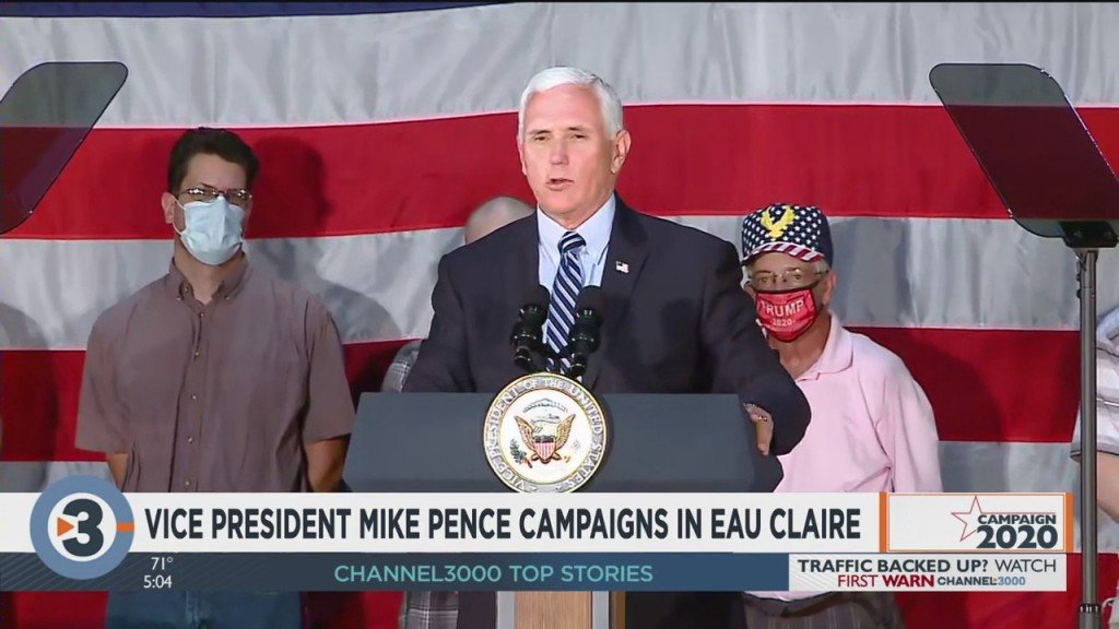 Vp Pence Campaigns In Eau Claire