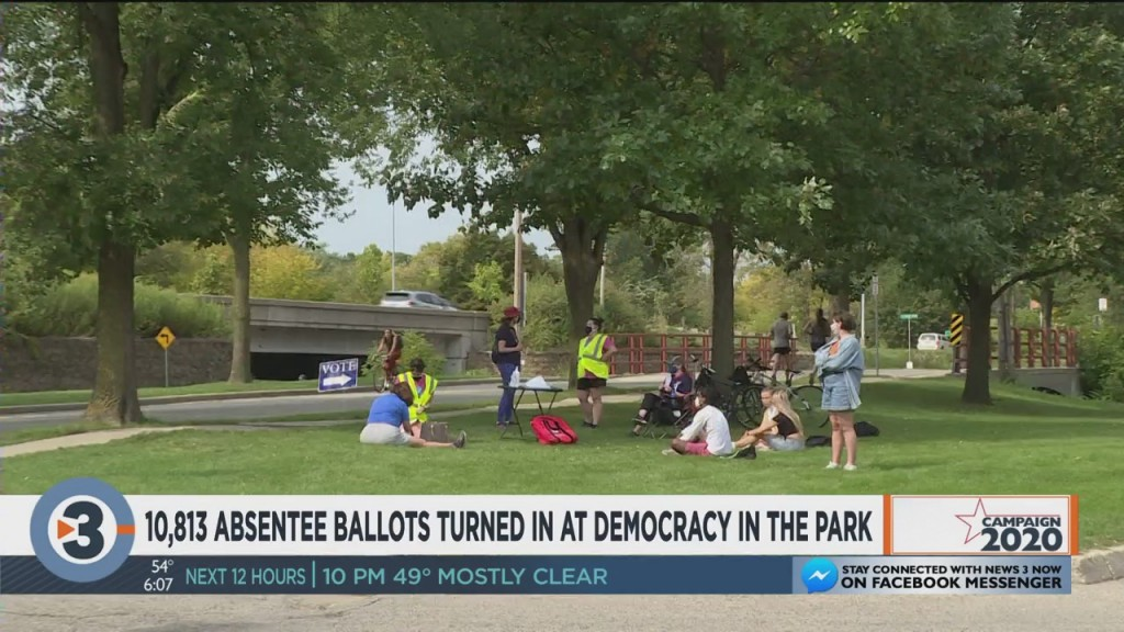 Over 10k Absentee Ballots Turned In At Democracy In The Park