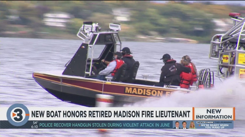 New Boat Honors Retired Madison Fire Lieutenant