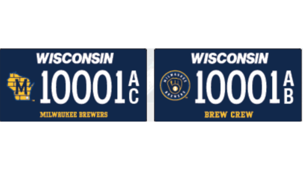 Brewers Plates Wis Dot 1280