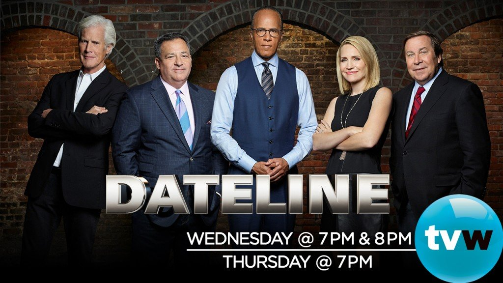 Dateline airs Wed & Thursday 2020
