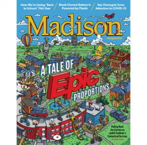 Epic cover with detailed illustrations of campus