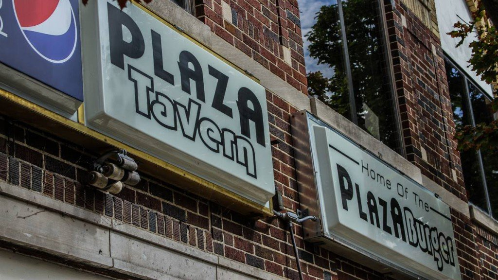 Plaza Tavern Signs on the exterior