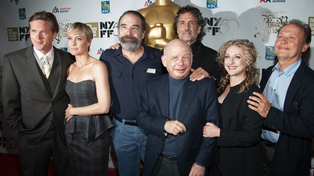 The Princess Bride cast, now much older, all standing together.