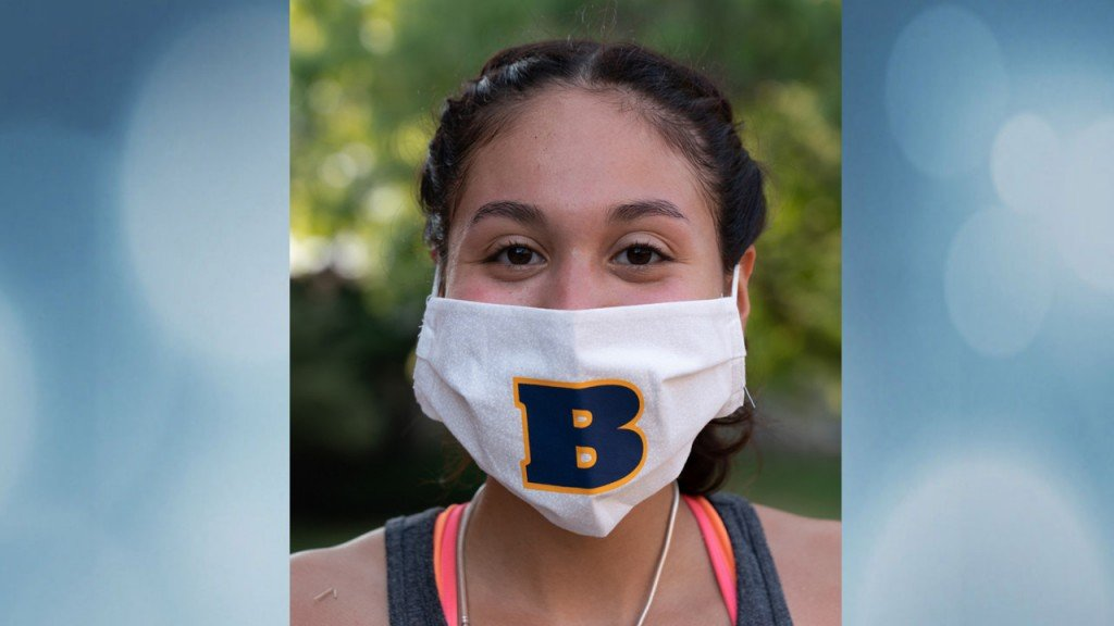 Beloit College student wearing mask
