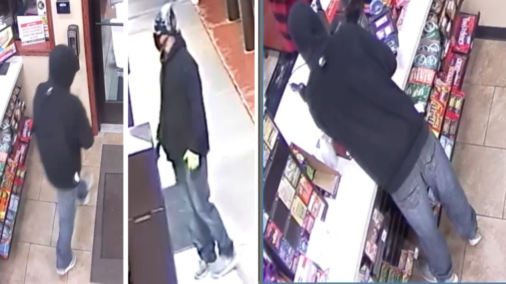 Surveillance images of Caseys robber