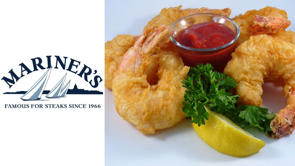 Mariner's Inn logo with fried shrimp