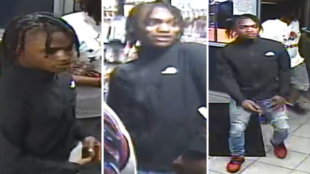Three views of a suspect MPD is seeking