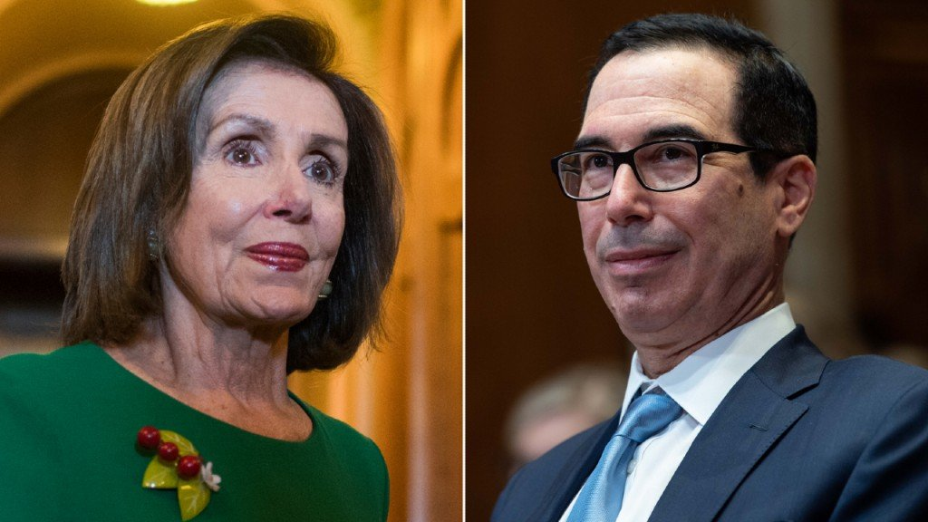 Nancy Pelosi Steven Mnuchin Split