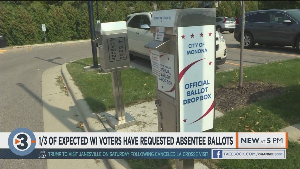 1/3 Of Expected Wisconsin Voters Have Requested Absentee Ballots