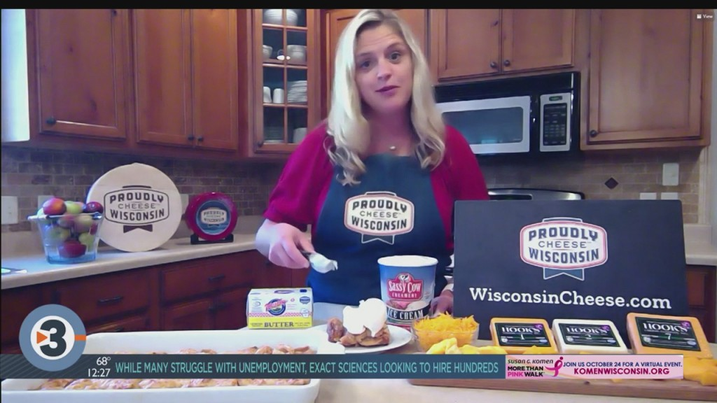 Making Wisconsin Cheddar Apple Pie Bars With Angie Edge