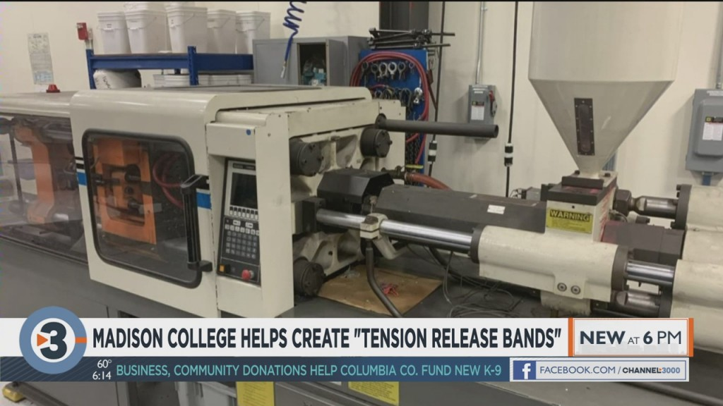 Madison College Helps Create Tension Release Bands For Health Care Workers