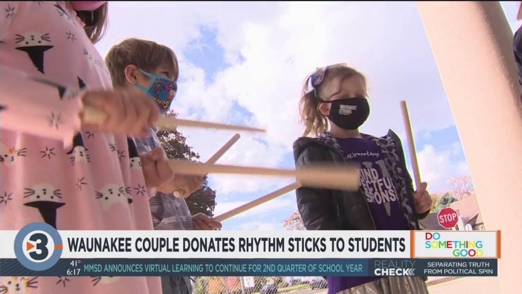 Waunakee Couple Donates Rhythm Sticks To Students