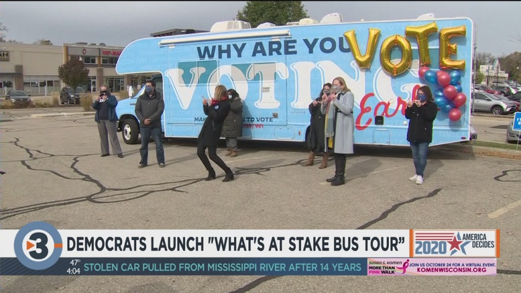 """Democrats Launch """"what's At Stake Bus Tour"""""""