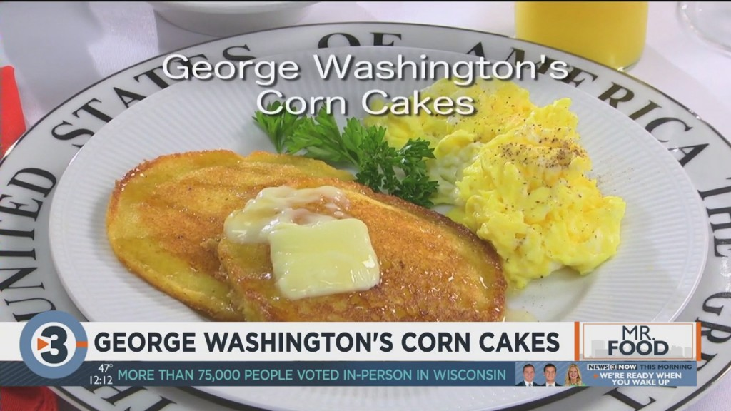 Mr. Food: George Washington's Corn Cakes