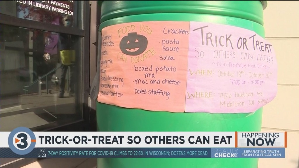 Middleton Students Collect Food For Trick Or Treat So Others Can Eat