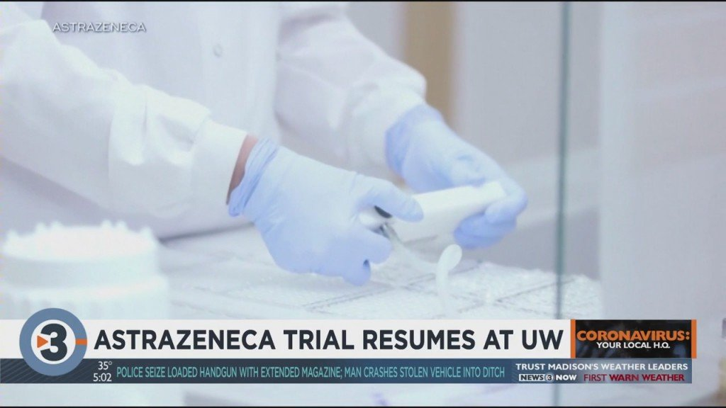 Astrazeneca To Resume Covid 19 Vaccine Trial At Uw