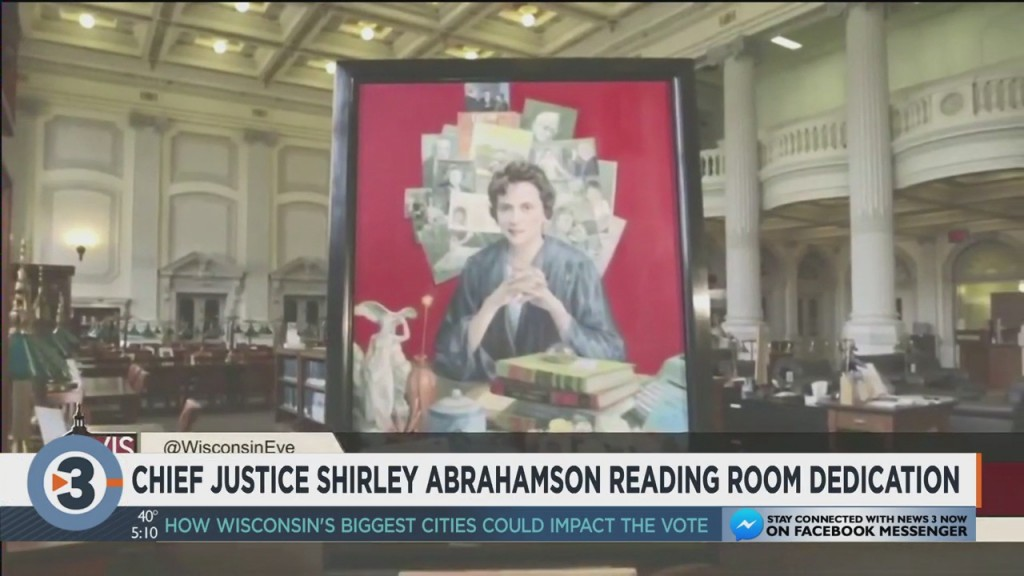 Reading Room Dedicated To Chief Justice Shirley Abrahamson