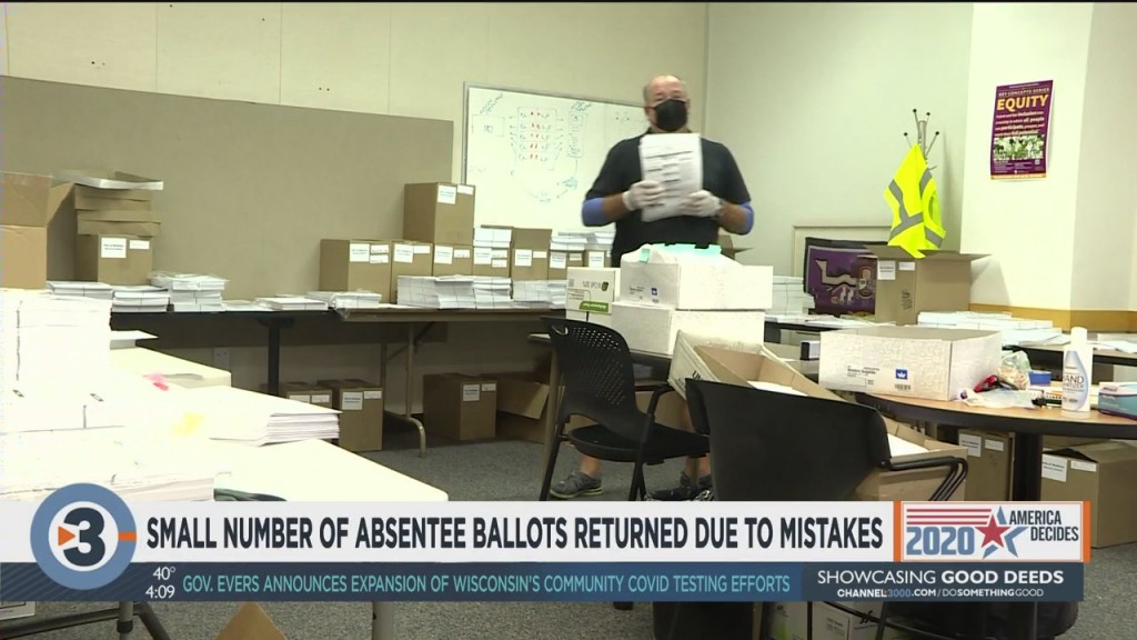 Small Number Of Absentee Ballots Returned Due To Mistakes