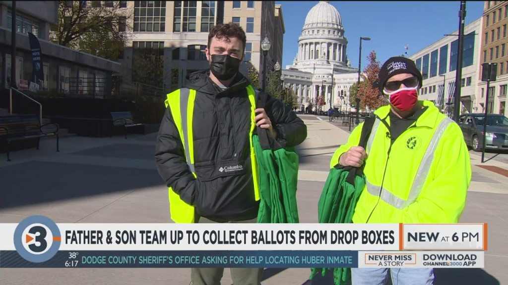 Father And Son Team Up To Collect Ballots From Drop Boxes