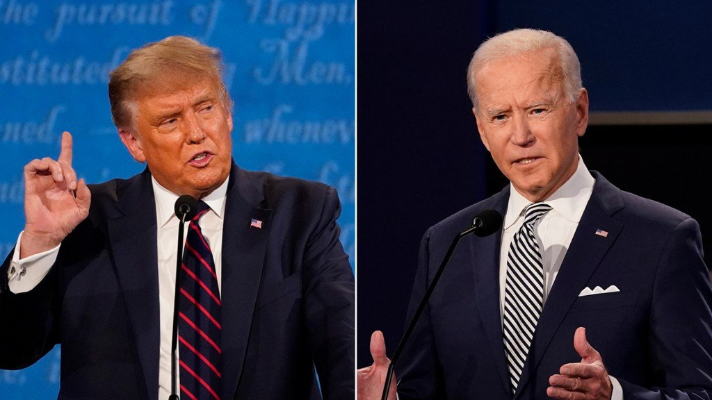 Donald Trump and Joe Biden