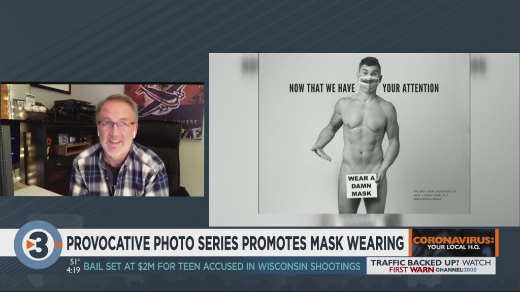 Provocative Photo Series Encourages Mask Wearing