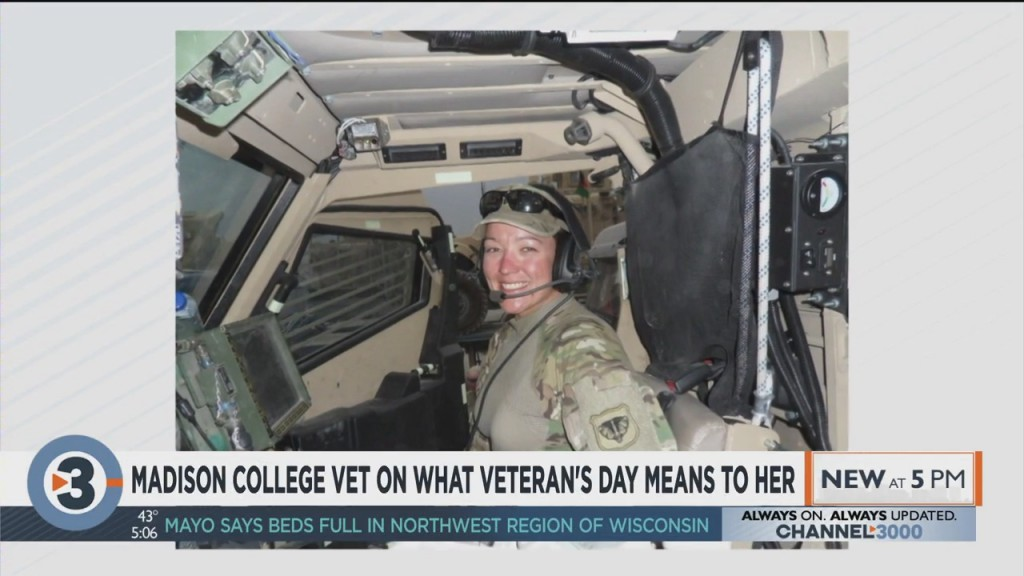 Madison College Vet On What Veterans Day Means To Her