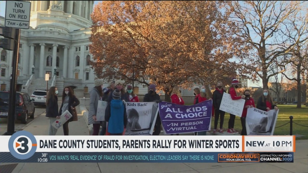 Dane County Students, Parents Rally For Winter Sports