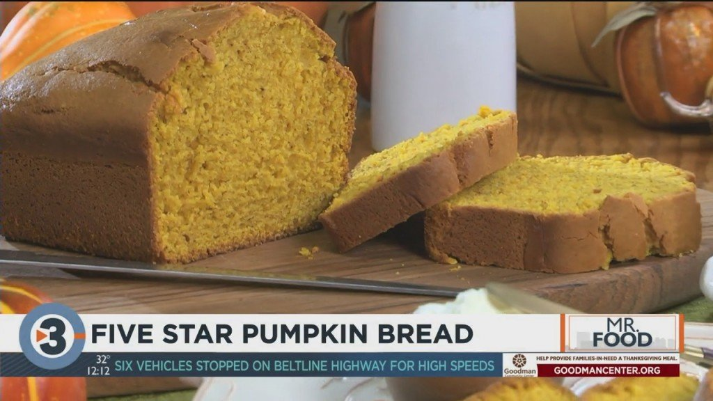 Mr. Food: Five Star Pumpkin Bread
