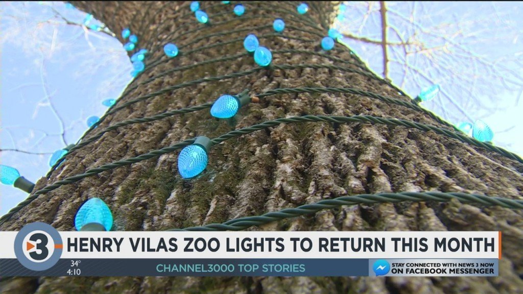 Henry Vilas Zoo Lights To Return This Month