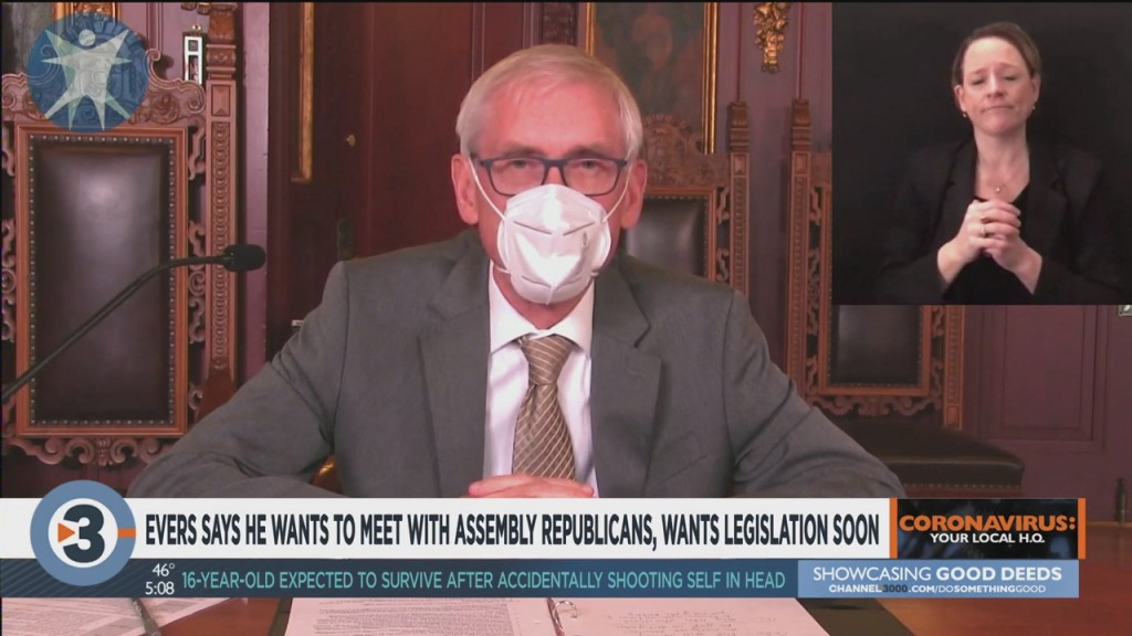 Evers Says He Wants To Meet With Assembly Republicans, Wants Legislation Soon