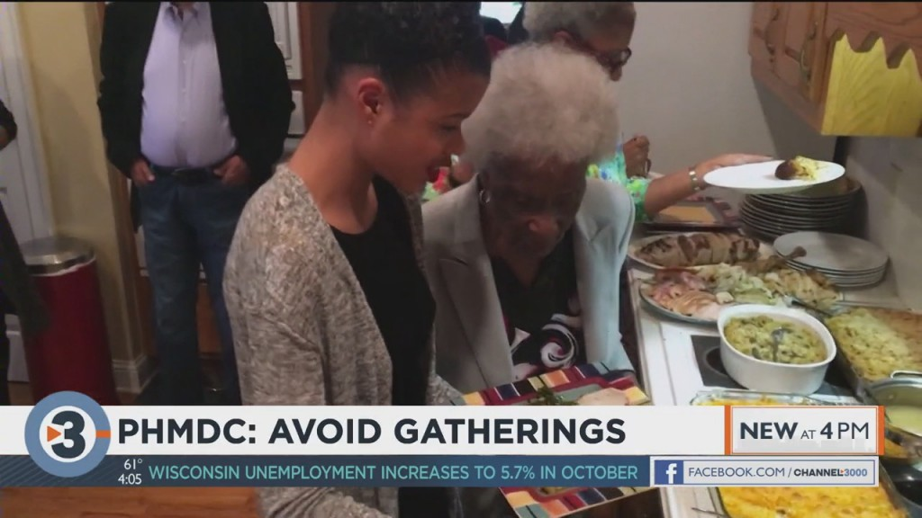 Public Health Officials Urge Residents To Avoid Gatherings On Thanksgiving