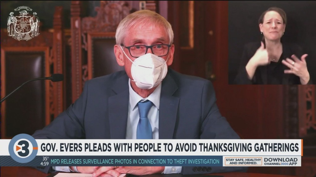 Gov. Evers Pleads With People To Avoid Thanksgiving Gatherings