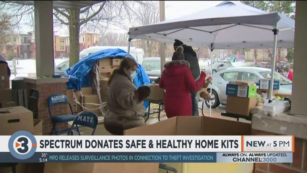 Spectrum Donates Safe And Healthy Home Kits