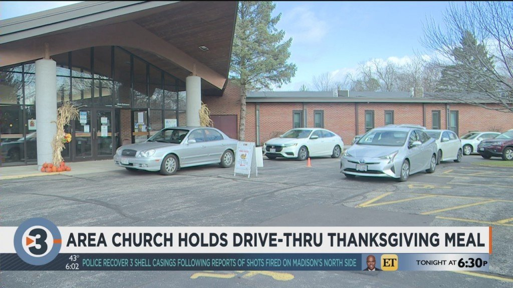 Area Church Holds Drive Thru Thanksgiving Meal