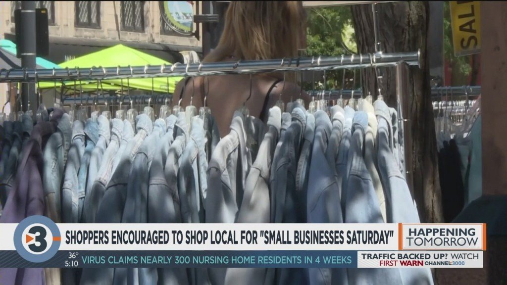 Shoppers Encouraged To Shop Local For Small Business Saturday