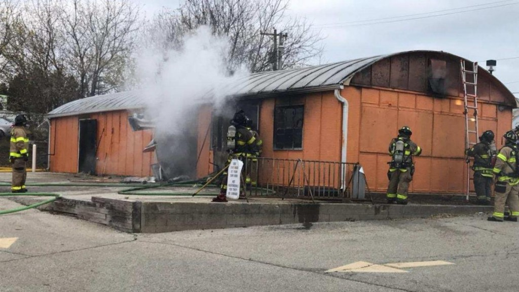 City Of Madison Fire Department Put Out Fire In Metal Storage Building