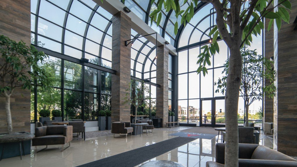 The open area atrium at Artis REIT Madison