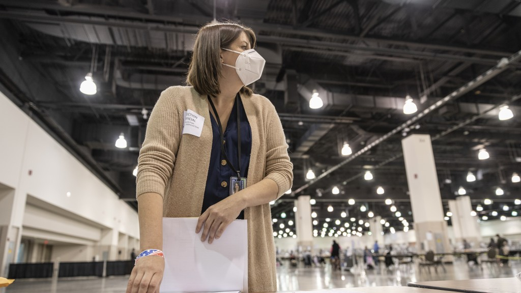 Claire Woodall Vogg, Executive Director Of Milwaukee's Election Commission, Works At The Presidental Recount Held At The Wisconsin Center Convention Center In Milwaukee, Wi On Wednesday November 25th, 2020.
