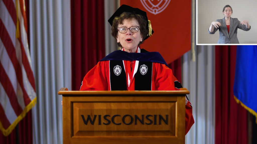 Chancellor Rebecca Blank at 2020 Spring Virtual Commencement