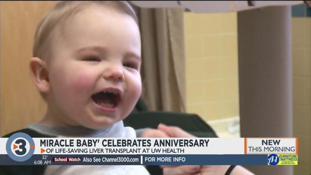 'miracle Baby' Celebrates Anniversary Of Life Saving Liver Transplant At Uw Health
