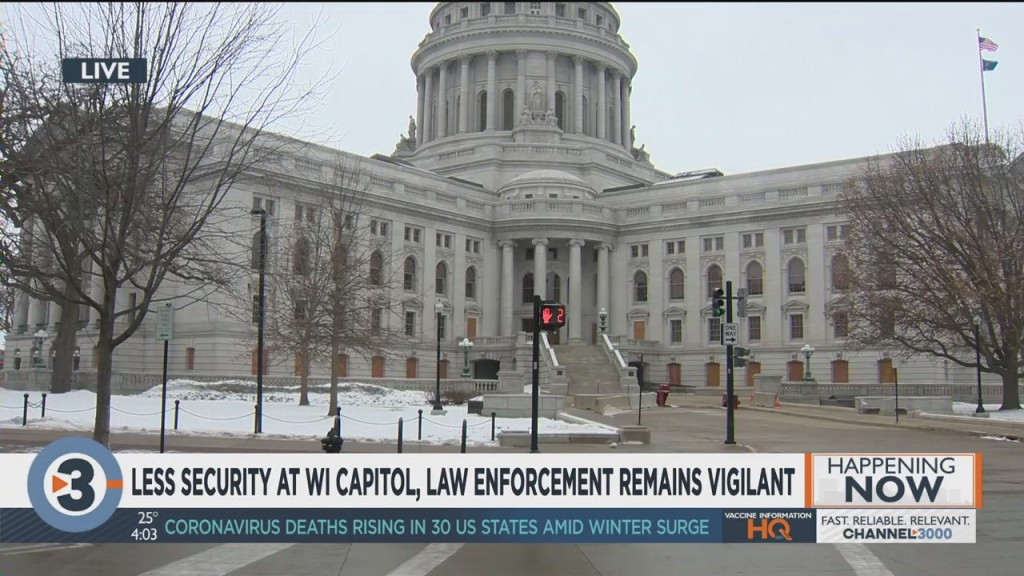 Less Security At Wisconsin State Capitol, Law Enforcement Remains Vigilant