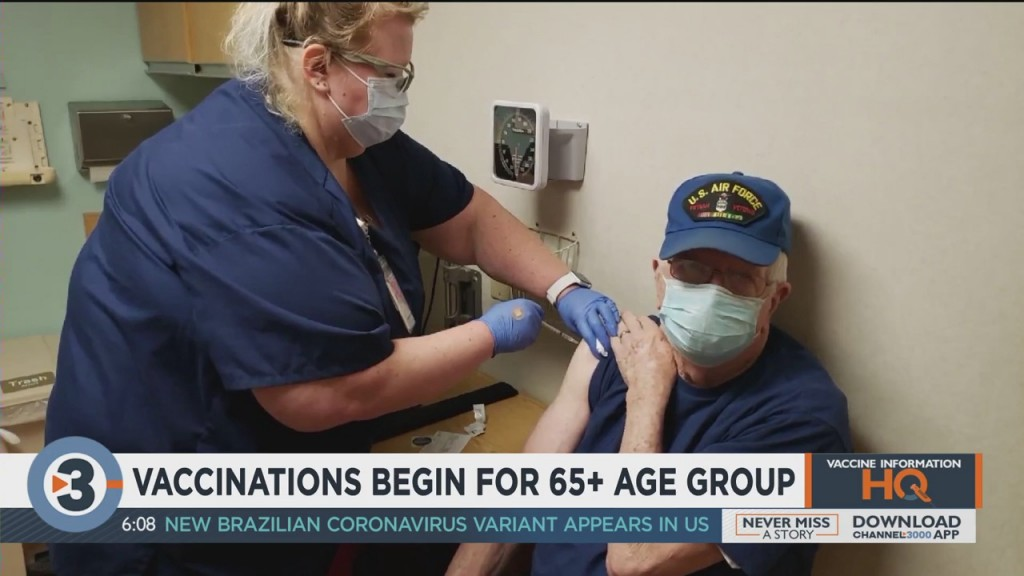 Vaccinations Begin For 65+ Age Group