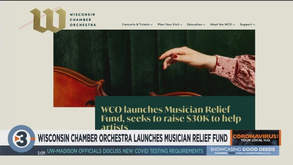 Wisconsin Chamber Orchestra Launches Musician Relief Fund
