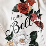 back of a jacket that says Mrs. Bell