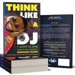 stack of books that says Think Like a DJ